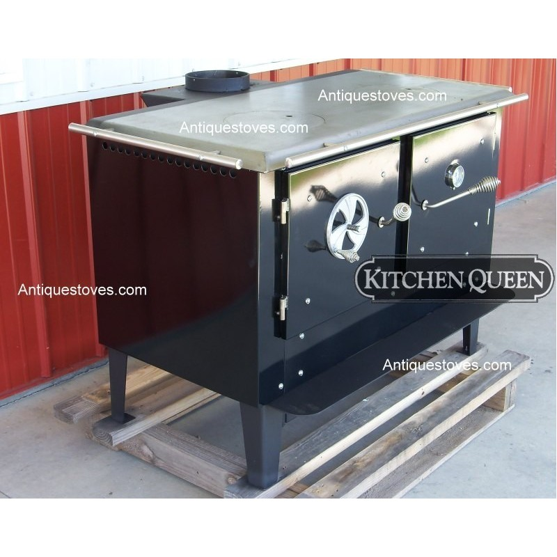 kitchen queen 380 wood cook stove basic